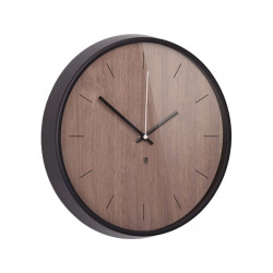 UMBRA zegar MADERA czarny - drewno orzechowe