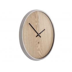 UMBRA zegar MADERA srebrny - drewno naturalne