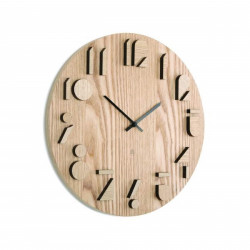 UMBRA zegar SHADOW - drewno naturalne