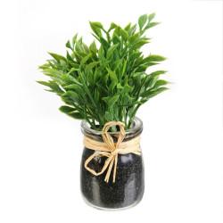 Dekoracja zioła w słoiku Cząber