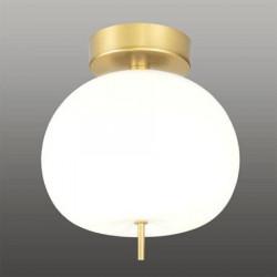 Ekskluzywna lampa LED sufitowa złoto bia ła - APPLE CE