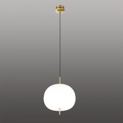 Ekskluzywna lampa LED wisząca złoto biał a - APPLE