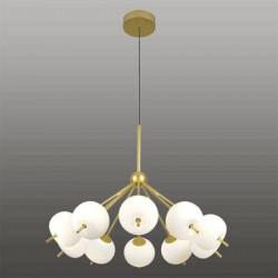 Ekskluzywna lampa LED wisząca złoto biał a - APPLE 10