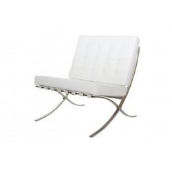 Fotel BA1 biała eko skóra