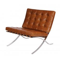 Fotel BA1 brązowy jasny vintage