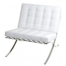 Fotel BA1 skóra naturalna biała