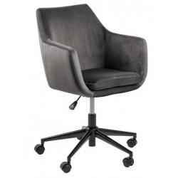 Fotel biurowy na kółkach Nora VIC szary