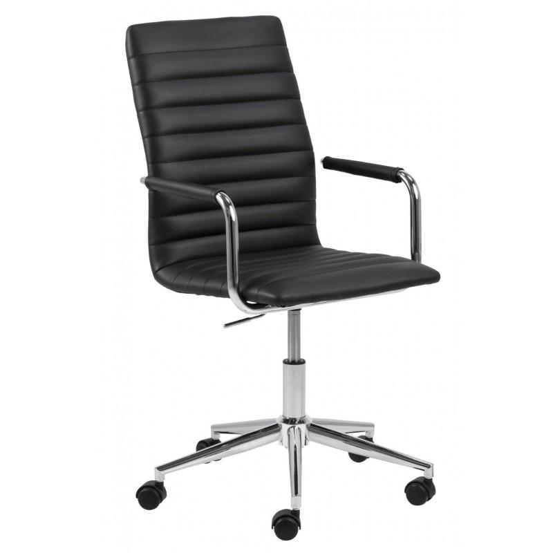 Fotel biurowy na kółkach Winslow czarny