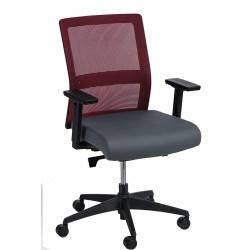 Fotel biurowy Press czerwony/czarny
