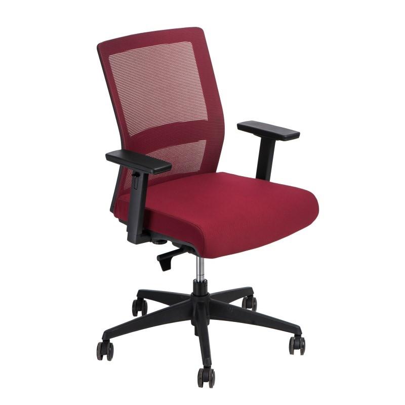 Fotel biurowy Press czerwony/czerwony
