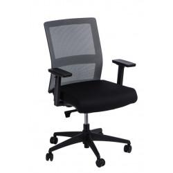 Fotel biurowy Press szary/czarny