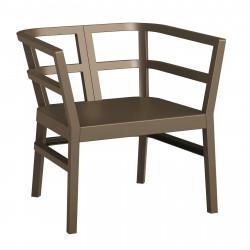 Fotel Click-Clack brązowy