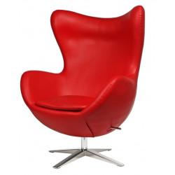 Fotel Jajo Soft skóra ekologiczna 513 czerwony