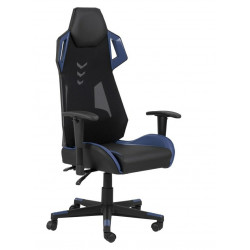Fotel na kółkach Kevin czarny niebieski