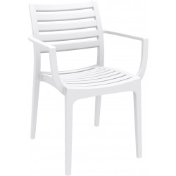 Krzesło Alma z podłokietnikami biały