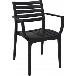 Krzesło Alma z podłokietnikami czarny