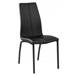Krzesło Asama black PU czarne nogi