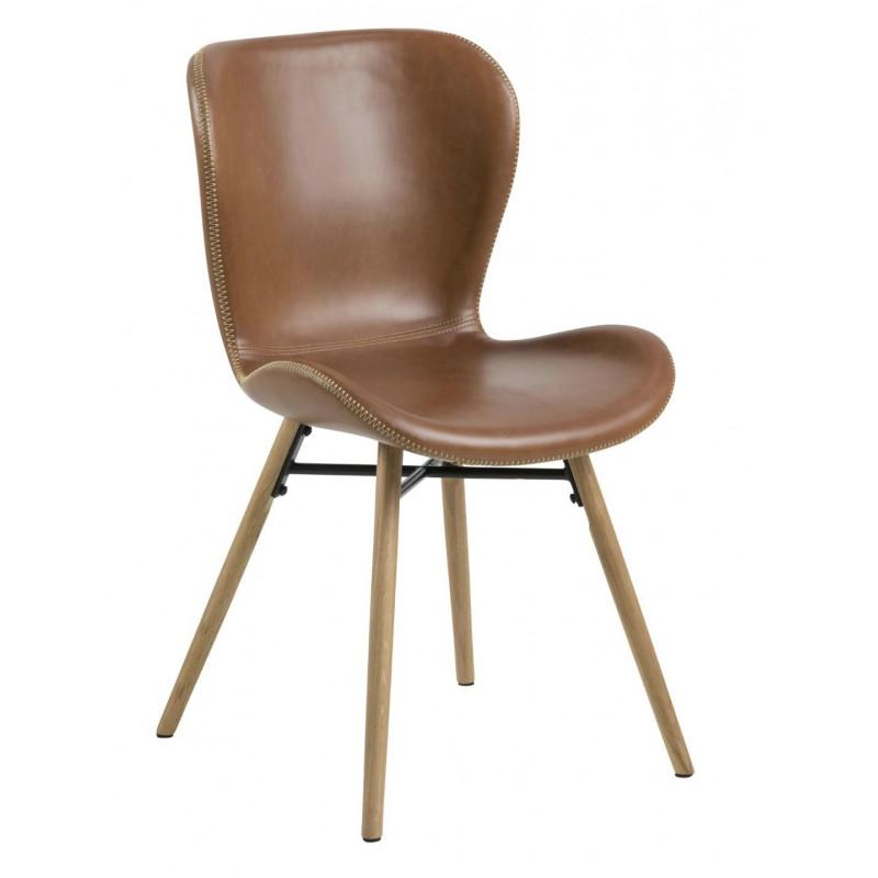 Krzesło Batilda Retro brandy /naturalne