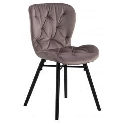 Krzesło Batilda VIC dusty rose/ pikowana
