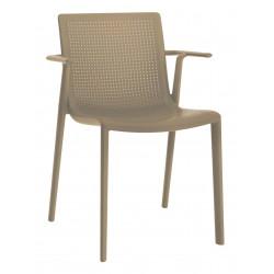 Krzesło BeeKat z podłokietnikami  beżowy