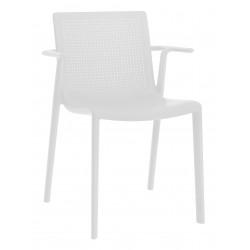 Krzesło BeeKat z podłokietnikami biały