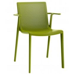 Krzesło BeeKat z podłokietnikami zielony
