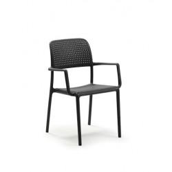 Krzesło Bora z podłokietnikami antracyt