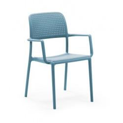 Krzesło Bora z podłokietnikami niebieski e