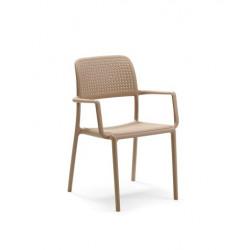 Krzesło Bora z podłokietnikami piaskowe
