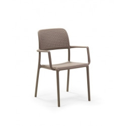 Krzesło Bora z podłokietnikami szare