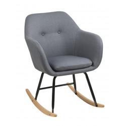 Krzesło bujane Emilia szare ciemne