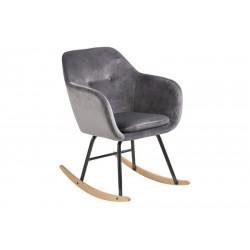 Krzesło bujane Emilia VIC dark grey