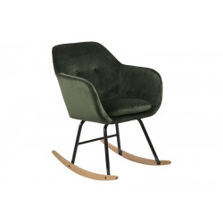 Krzesło bujane Emilia VIC forest green