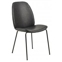 Krzesło Carmen Retro Black PU