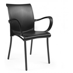 Krzesło Dama grafitowe
