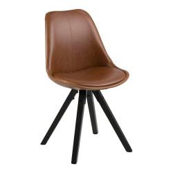 Krzesło Dima bradny/black PU