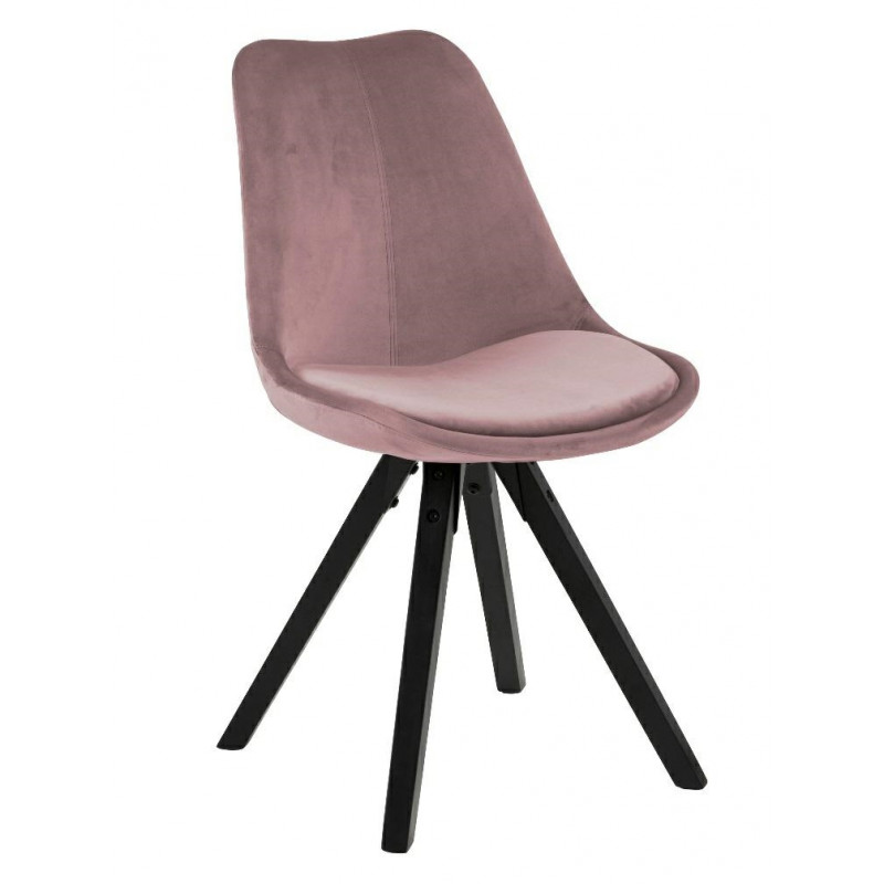 Krzesło Dima VIC dusty rose /black