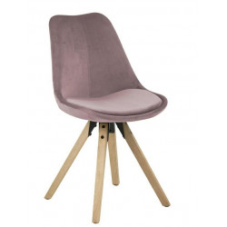 Krzesło Dima VIC dusty rose/wood