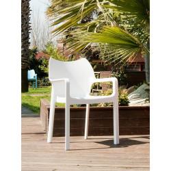 Krzesło Dionisio White Arm chair