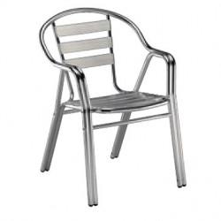 Krzesło Edge z podłokietnikami aluminium