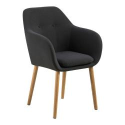 Krzesło Emilia ciemo szare