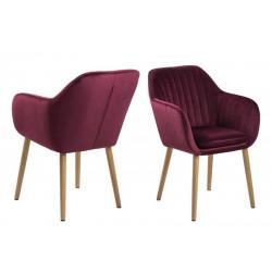 Krzesło Emilia Velvet bordeaux