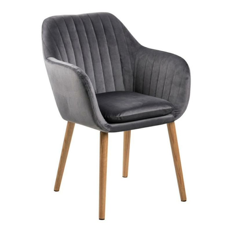 Krzesło Emilia Velvet dark grey