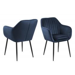 Krzesło Emilia Velvet deep blue/black