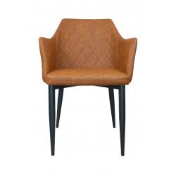 Krzesło Emma Vintage PU Brandy