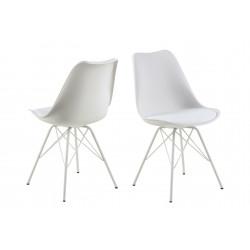 Krzesło Eris PP białe/białe