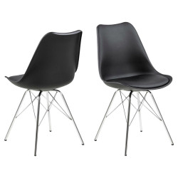 Krzesło Eris PP czarne/chrom
