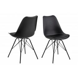 Krzesło Eris PP czarne/czarne