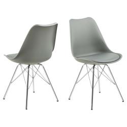 Krzesło Eris PP szare/chrom