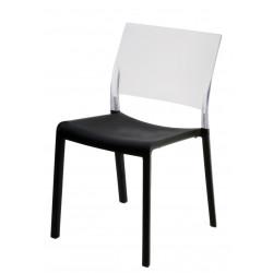 Krzesło Fiona black/transparet
